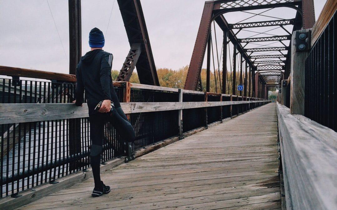 Runner marathon half marathon stretch